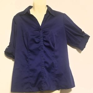 Apt. 9 Navy Blue Button-down Shirt